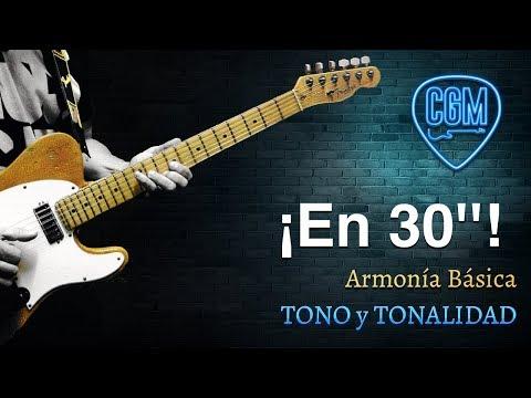 Armonía Básica: Diferencia TONO Y TONALIDAD | Guitarra en 30'' 34º