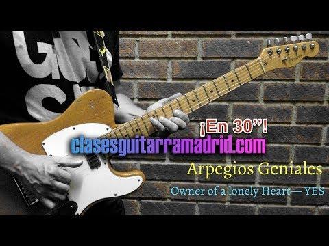 Arpegios Geniales: Owner of a Lonely Heart YES   Guitarra en 30'' 11º