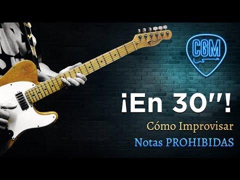Cómo IMPROVISAR: Notas Prohibidas | Guitarra en 30'' 16º
