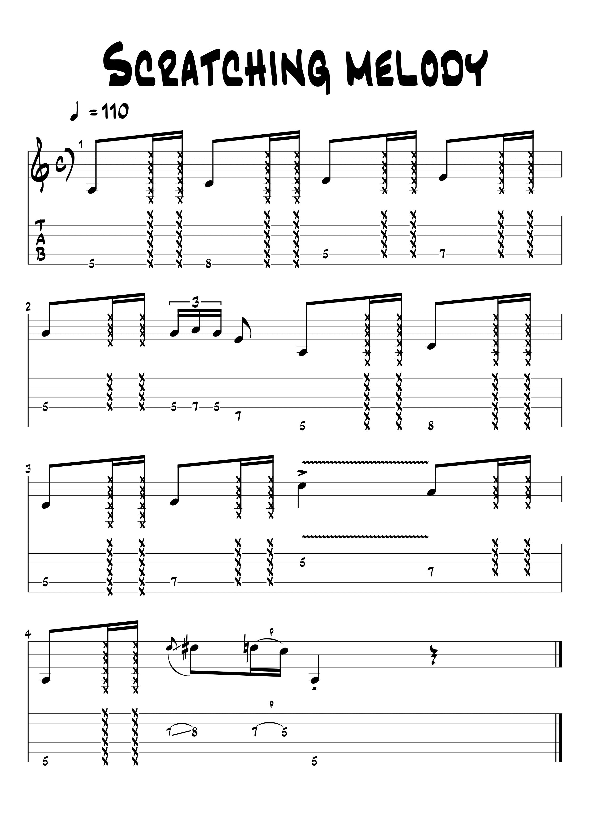 melodía con scratches